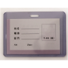Buzunar ecuson PVC trasnparent rigid 95x61mm orizontal 10 buc/set, KEJEA