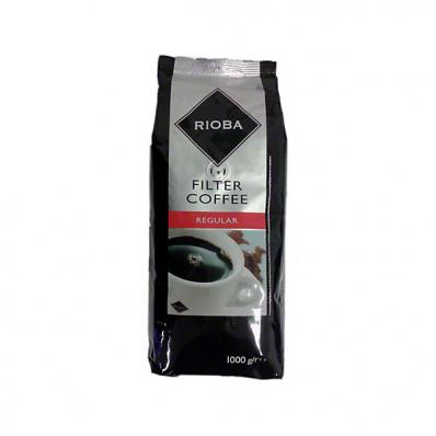 Cafea macinata special pentru cafetierele cu filtru 1000 g/punga, RIOBA