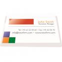 Buzunar adeziv pentru carti de vizita acces vertical 95x60mm 10 buc/set, PROBECO