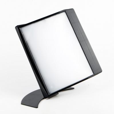 Suport de prezentare de birou pentru 20 buzunare A4 negru, PROBECO EasyMount