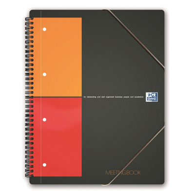 Caiet A4+ cu spira 80 file dictando coperti PP, OXFORD Meetingbook