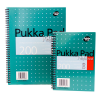 Caiet A5 cu spira 100 file dictando, PUKKA Metallic