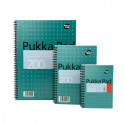 Caiet A6 cu spira 100 file dictando, PUKKA Metallic