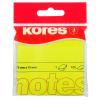 Notes adeziv 75x75mm galben neon 100 file, KORES