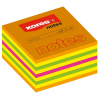 Notes adeziv 75x75mm neon mixt 450 file, KORES
