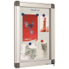 Avizier interior/exterior tabla magnetica alba 24xA4 90x169cm, SMIT Recto