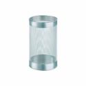 Cos metalic cu perforatii rotund argintiu 15l, ALCO