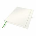 Caiet 187x242mm (iPad) 80 file dictando 100g/mp coperti rigide alb, LEITZ Complete