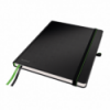 Caiet 187x242mm (iPad) 80 file dictando 100g/mp coperti rigide negru, LEITZ Complete