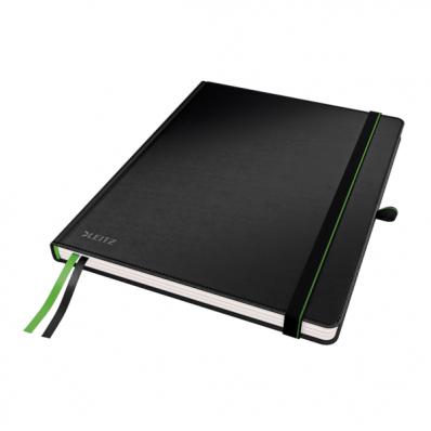 Caiet 187x242mm (iPad) 80 file matematica 100g/mp coperti rigide negru, LEITZ Complete