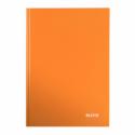 Caiet A4 80 file dictando portocaliu metalizat, LEITZ WoW