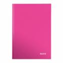 Caiet A4 80 file dictando roz metalizat, LEITZ WoW