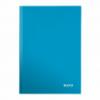 Caiet A4 80 file matematica albastru metalizat, LEITZ WoW