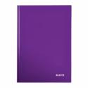 Caiet A4 80 file matematica mov metalizat, LEITZ WoW