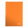 Caiet A4 80 file matematica portocaliu metalizat, LEITZ WoW