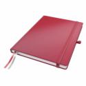Caiet A4 80 file matematica rosu, LEITZ Complete
