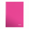 Caiet A4 80 file matematica roz metalizat, LEITZ WoW