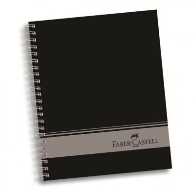 Caiet A4 cu spira 120 file coperti carton 4 subiecte (3M+1D), FABER-CASTELL