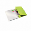 Caiet A4 cu spira 80 file dictando coperti PP verde metalizat, LEITZ Be Mobile WoW
