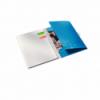 Caiet A4 cu spira 80 file matematica coperti PP albastru metalizat, LEITZ Be Mobile WoW