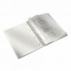Caiet A4 cu spira 80 file matematica coperti PP albastru metalizat, LEITZ WoW