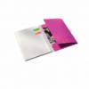 Caiet A4 cu spira 80 file matematica coperti PP roz metalizat, LEITZ Be Mobile WoW