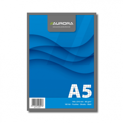 Blocnotes A5 100 file dictando, AURORA Office
