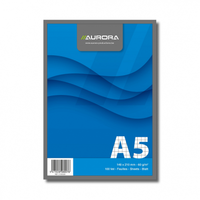 Blocnotes A5 100 file matematica, AURORA Office