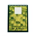 Blocnotes A5 cu spira 80 file matematica, AURORA Mano