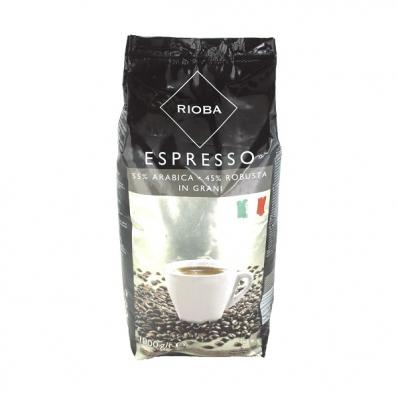 Cafea boabe 1000 g/punga, RIOBA Silver