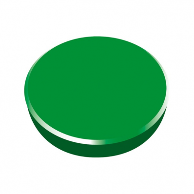 Magneti tabla 38mm diametru plastic verde 10 buc/set, ALCO