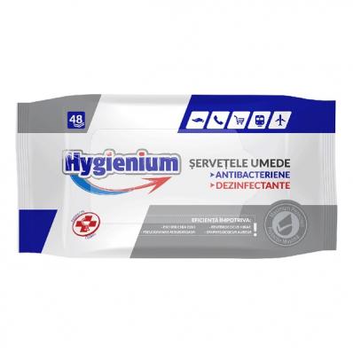 Servetele umede antibacteriene dezinfectante 48 buc/set, HYGIENIUM