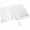 Caiet A5 80 file dictando coperti rigide alb arctic, LEITZ Style