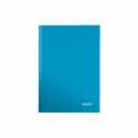 Caiet A5 80 file dictando coperti rigide albastru metalizat, LEITZ WoW