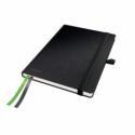 Caiet A5 80 file dictando coperti rigide negru, LEITZ Complete