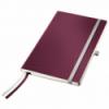 Caiet A5 80 file matematica coperti flexibile grena, LEITZ Style