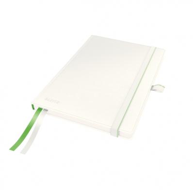 Caiet A5 80 file matematica coperti rigide alb, LEITZ Complete