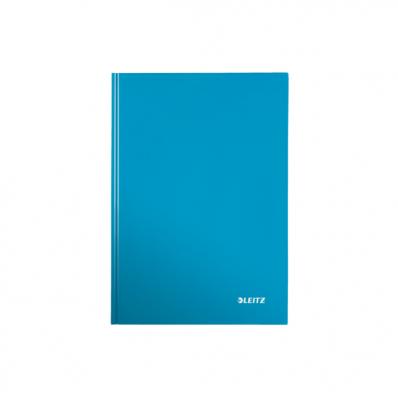 Caiet A5 80 file matematica coperti rigide albastru metalizat, LEITZ WoW