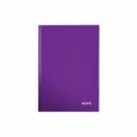 Caiet A5 80 file matematica coperti rigide mov metalizat, LEITZ WoW