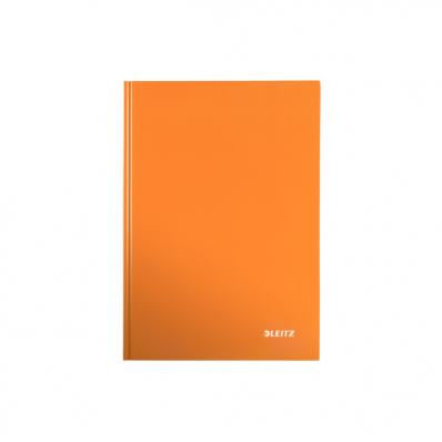Caiet A5 80 file matematica coperti rigide portocaliu metalizat, LEITZ WoW