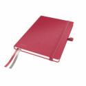 Caiet A5 80 file matematica coperti rigide rosu, LEITZ Complete
