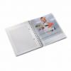 Caiet A5 cu spira 80 file matematica coperti PP portocaliu metalizat, LEITZ WoW