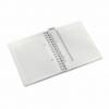 Caiet A5 cu spira 80 file matematica coperti PP turcoaz metalizat, LEITZ WoW