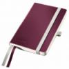 Caiet A6 80 file dictando coperti flexibile grena, LEITZ Style