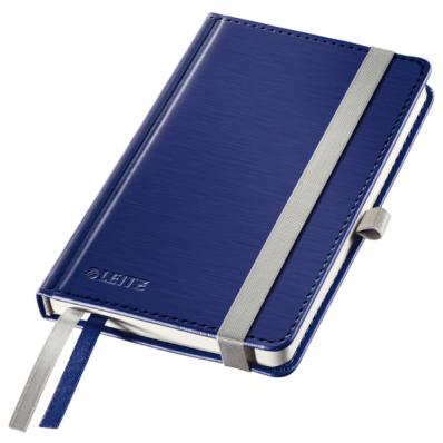Caiet A6 80 file dictando coperti rigide albastru violet, LEITZ Style