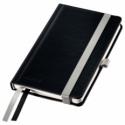 Caiet A6 80 file dictando coperti rigide negru satin, LEITZ Style