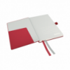 Caiet A6 80 file dictando coperti rigide rosu, LEITZ Complete