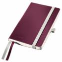 Caiet A6 80 file matematica coperti flexibile grena, LEITZ Style