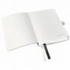 Caiet A6 80 file matematica coperti flexibile negru satin, LEITZ Style