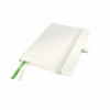 Caiet A6 80 file matematica coperti rigide alb, LEITZ Complete
